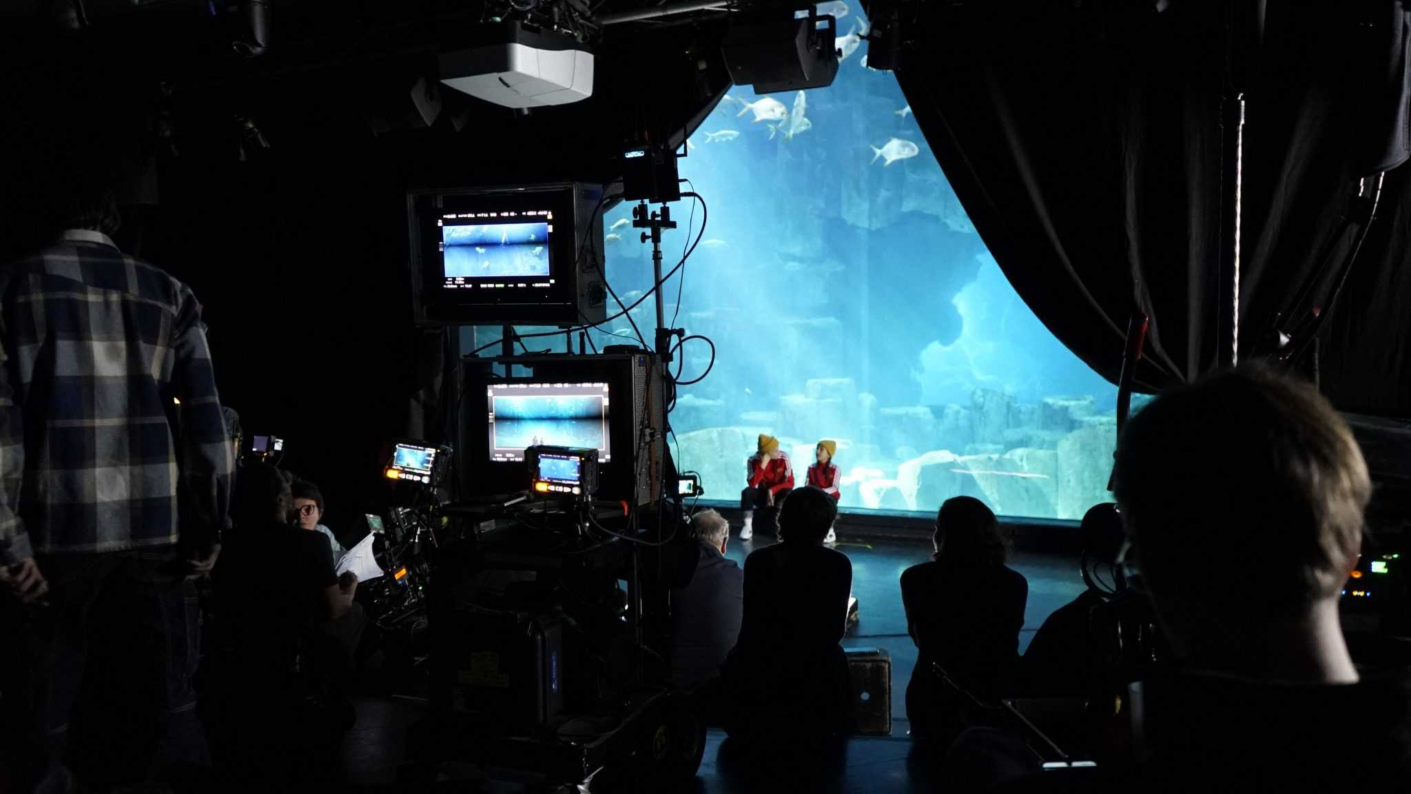 Tournage au Lounge - Aquarium de Paris