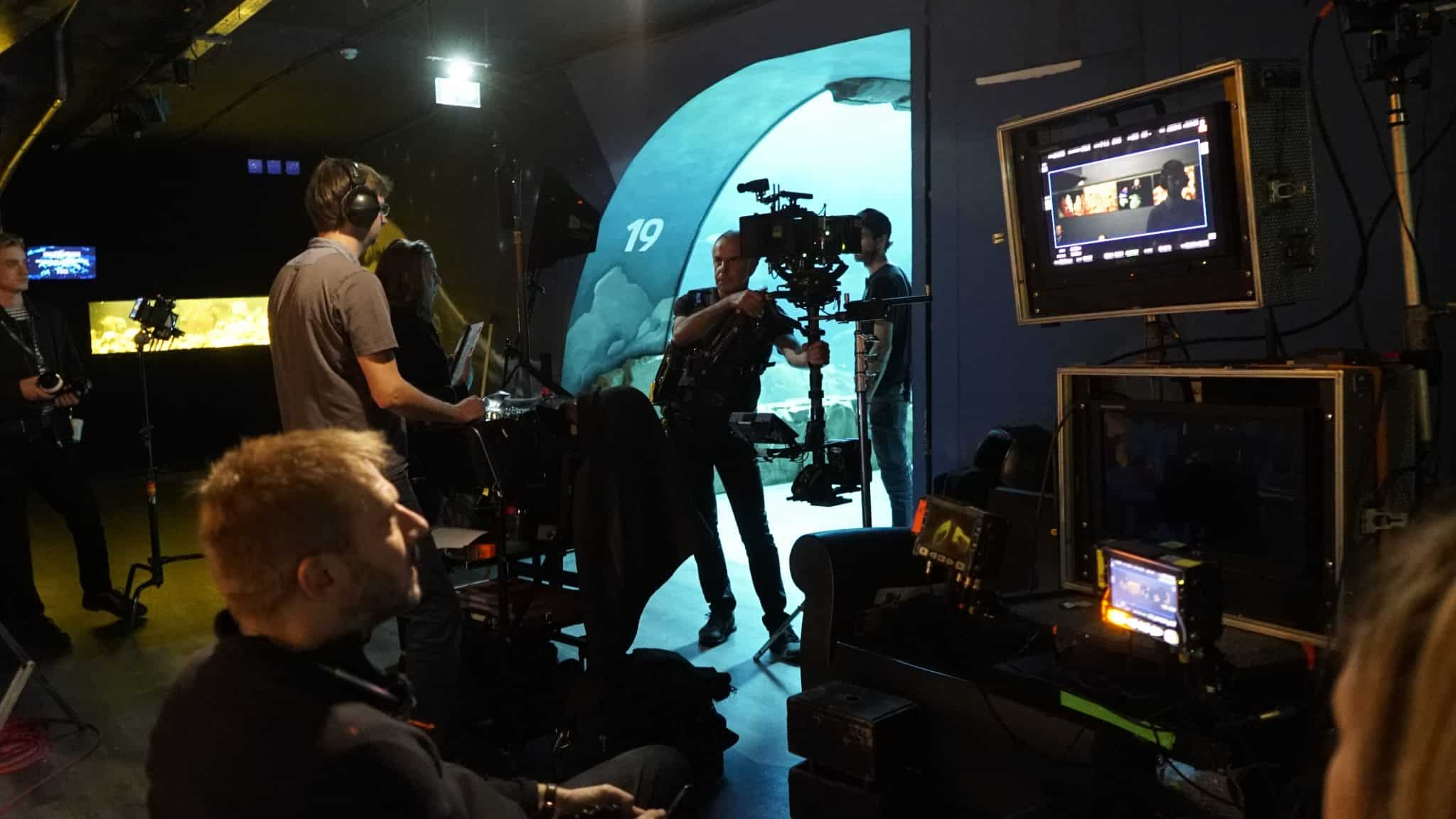 Tournage tunnel regie steadycam - Aquarium de Paris