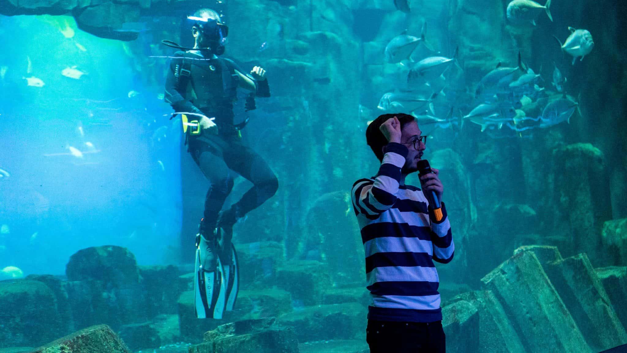 Rencontre avec un plongeur - Aquarium de Paris - Animation pédagogique