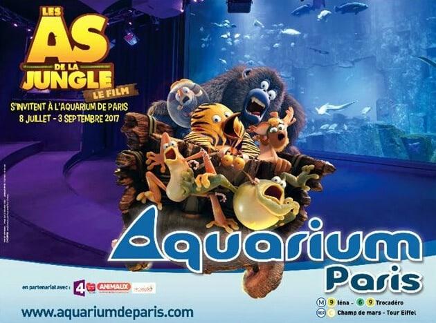 Exposition les as de la jungle - Aquarium de Paris