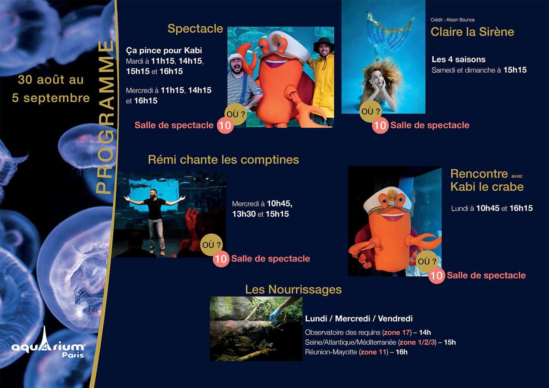 Programme Aquarium de Paris